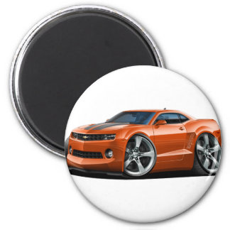 2010-12 Camaro Orange-Grey Car 2 Inch Round Magnet