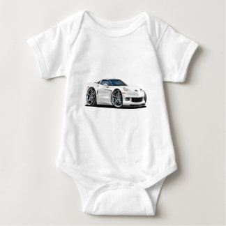 2010-12 Corvette White Car Baby Bodysuit