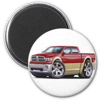 2010-12 Ram Dual Maroon-Tan Truck 2 Inch Round Magnet