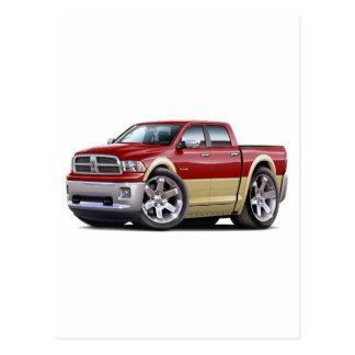2010-12 Ram Dual Maroon-Tan Truck Postcard