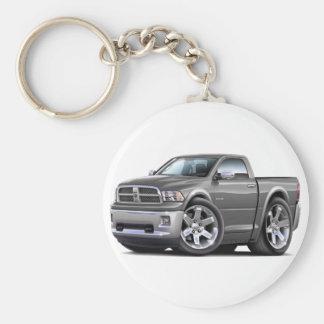 2010-12 Ram Grey Truck Basic Round Button Keychain