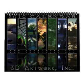 2010 3D Artwork Calendar