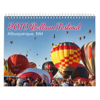 2010 Albuquerque, NM Balloon Festival Wall Calendar