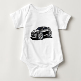 2010 Camaro Black-White Car Baby Bodysuit