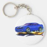 2010 Camaro Blue-White Car Basic Round Button Keychain