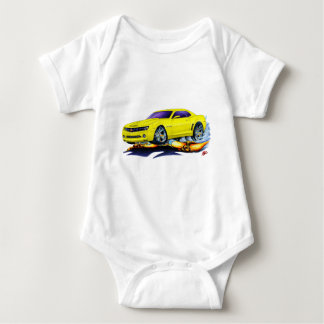 2010 Camaro Yellow Car Baby Bodysuit