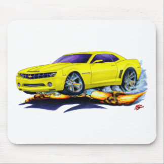 2010 Camaro Yellow Car Mouse Pad
