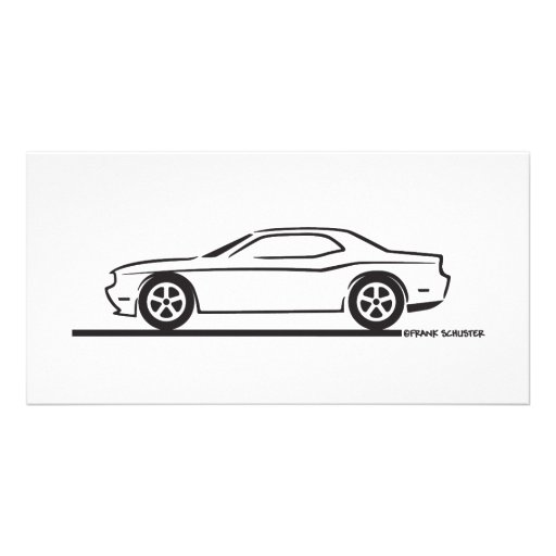 2010 dodge challenger photo card template