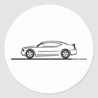 2010 Dodge Charger Classic Round Sticker
