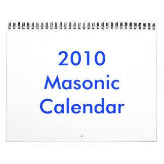 2010 Masonic Calendar