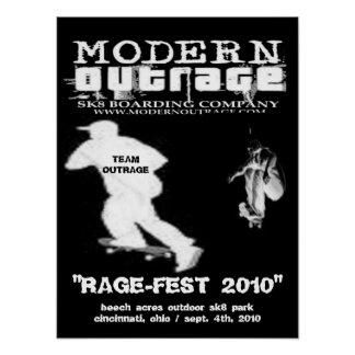 2010 rage-fest competition posters
