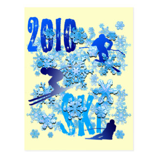 2010 Skiing postcards for skiers