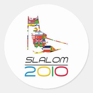 2010: Slalom Classic Round Sticker
