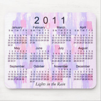 2011 Abstract Calendar Mouse Pad