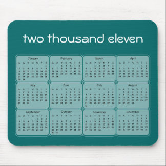2011 Basic Calendar Mousepad