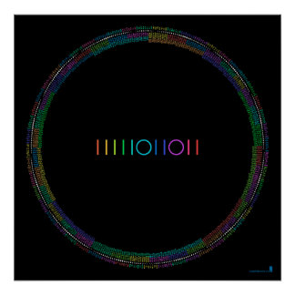 2011 Binary Calendar (black) Poster