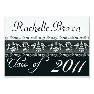 2011 Black and White Graduation Card