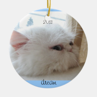 2011 Christmas Kitty Dream Ceramic Ornament