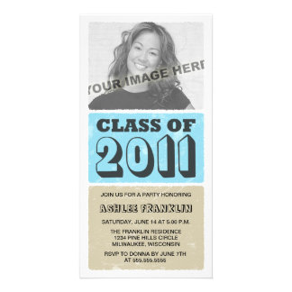 2011 Color Block Graduation Party Invitations Picture Card