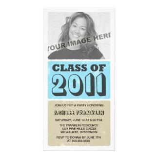 2011 Colour Block Graduation Party Invitations Picture Card