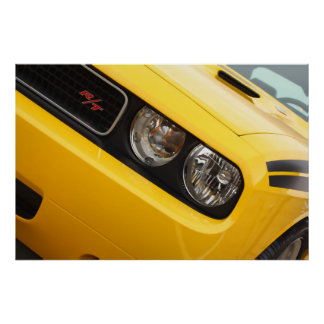 2011 Dodge Challenger R/T Yellow Poster