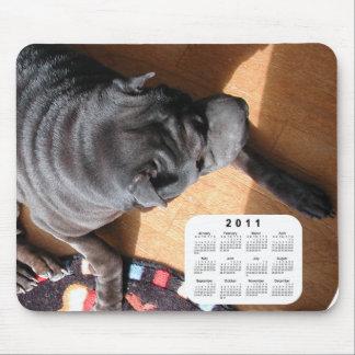 2011 Dog Calendar - Chinese Shar Pei Mouse Pad