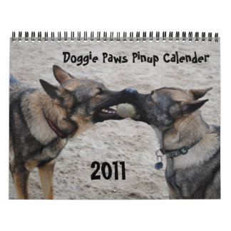 2011 - Doggie Paws Pinup Calender Wall Calendar