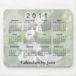 2011 Floral Calendar Mouse Pad