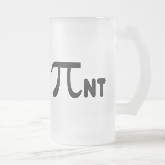 2011 Funny Pi Pint Frosted Glass Beer Mug