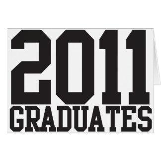 2011 graduates in funky block font cards