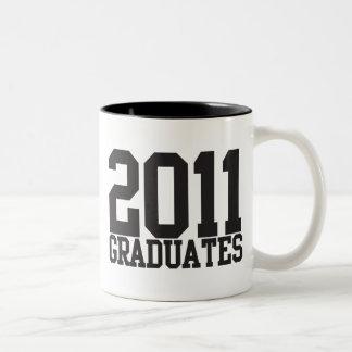 2011 graduates in funky block font! mug