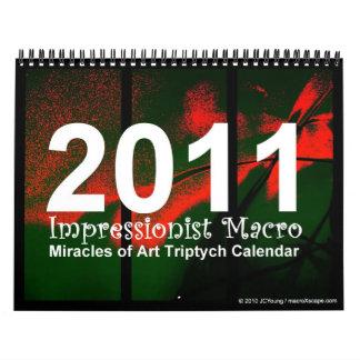 2011 Impressionist Macro Wall Calendar