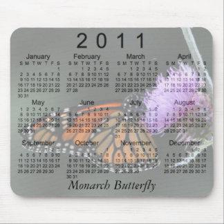 2011 Monarch Butterfly Calendar Mouse Pad