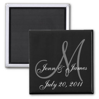2011 Monogram Save the Date Magnets