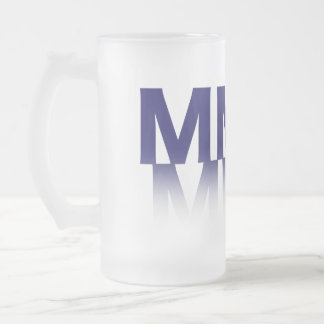 2011, Roman Numerals Frosted Glass Beer Mug