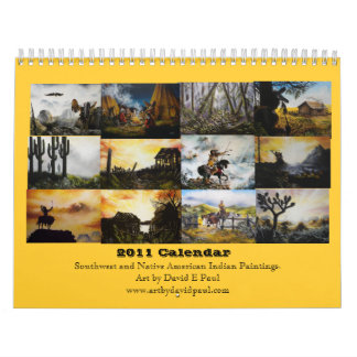 2011 Southwest and Native American Indian Art Wall Calendar