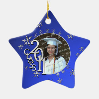 2011 Star Graduate Photo Ceramic Ornament