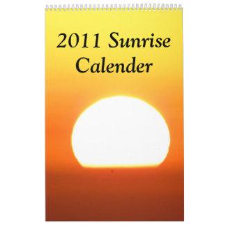 2011 Sunrise Calendar