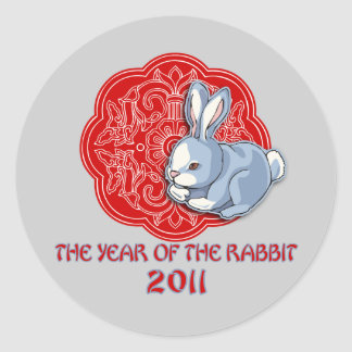 2011 The Year of the Rabbit Gifts Round Sticker
