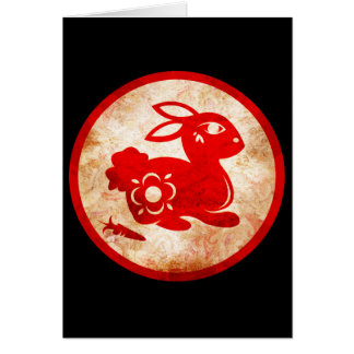 2011 Year of the Rabbit Chinese Astrology Design Card