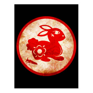 2011 Year of the Rabbit Chinese Astrology Design Postcard