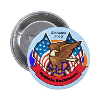 2012 Alabama for Michele Bachmann 2 Inch Round Button