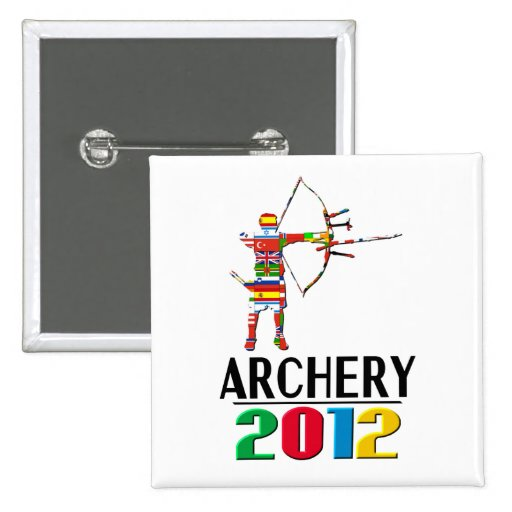 2012: Archery 2 Inch Square Button
