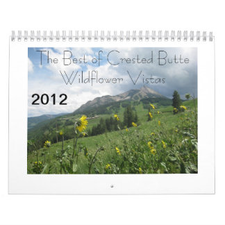 2012 Best of Crested Butte Wildflower Vistas Wall Calendar