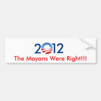 2012 BUMPER STICKER