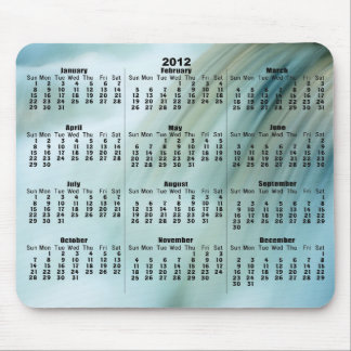 2012 Calendar Beautiful Cascade Waterfall Mousepad