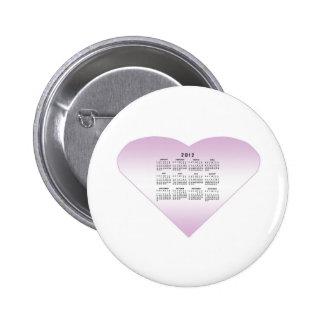 2012 Calendar Pinback Button