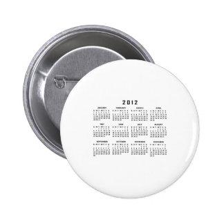 2012 Calendar Pin