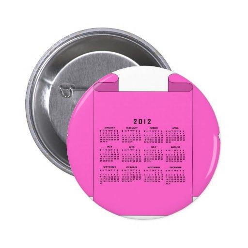 2012 Calendar Pins