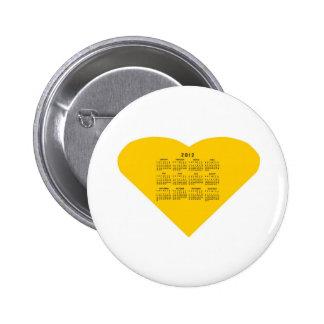 2012 Calendar Pinback Buttons